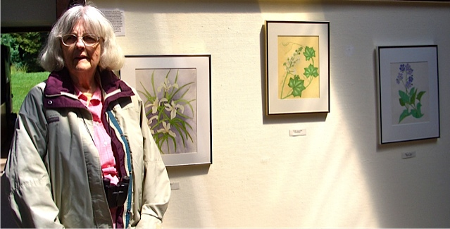 Bei Brown with her drawings
