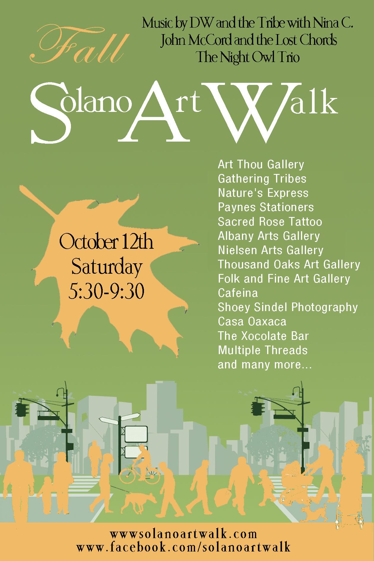 FALL ART WALK Postcard