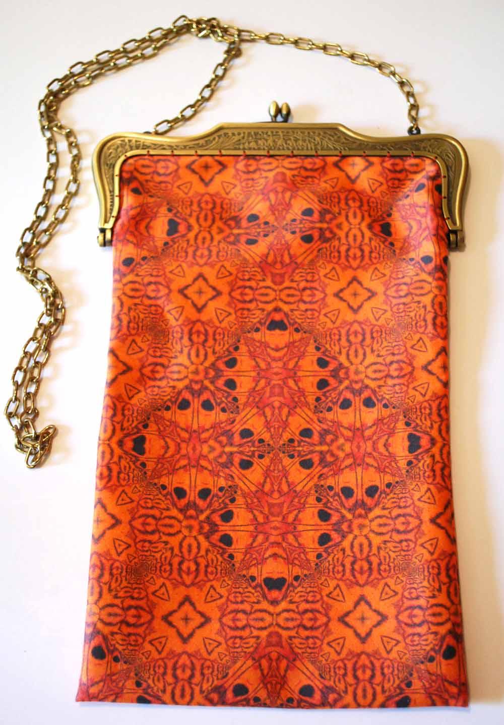 Original design fabric purse; inkjet printed. © Heidi Rand
